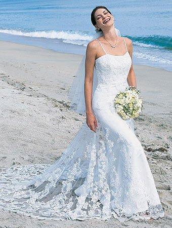 Decent/Spaghetti Satin/&Mesh/Strap/A-Line/Princess/Floor-Length/Wedding Dress/AA017