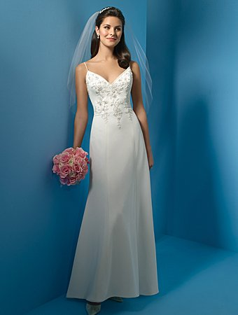 Beautiful/Spaghetti Strap/Sweetheart Neckline/A-Line/Princess/Floor-Length/Wedding Dress/AA036