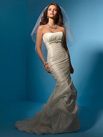 Charming/Strapless/Taffeta/Mermaid/Floor-Length/Wedding Dress/AA042