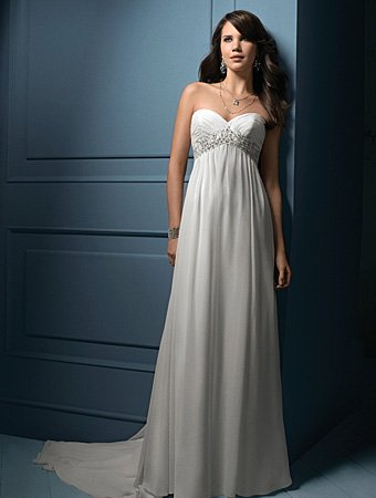 Sweety/Strapless/Sweetheart Neckline/A-Line/Princess/Floor Length/Wedding Dress/AA054