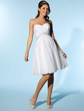 Free Shipping/A-line/Sweetheart/Taffeta/Knee Length/Wedding Dress/AA117