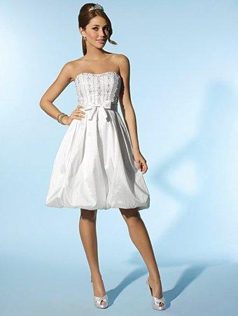 Free Shipping!!Lovely/Strapless/Knee Length/Wedding Dress/AA120