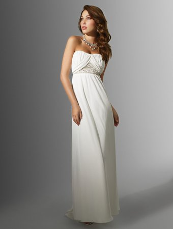 Exquisite/Strapless/A-Line/Floor Length/Chiffon/with Beading/Wedding Dress/AA122