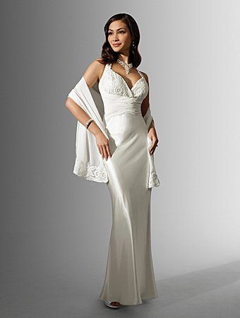Graceful/Halter/Sweetheart Neckline/A-Line/Floor Length/Bridal gown/AA123