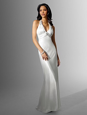 Free Shipping!!Tempting/Sweetheart Neckline/Halter/A-Line/Floor Length/Wedding Dress/AA131