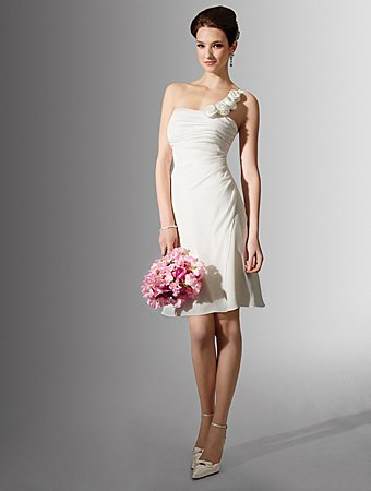 Free Shipping!!Terse/One-shoulder/Knee-length/Bridal Gown/AA134