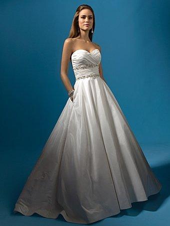 Free Shipping!! Recherche/Strapless/Taffeta/A-Line/Princess/Bridal Gown/AA145