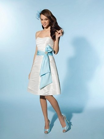 Free Shipping!! Delicate/Knee-Length/Strapless/Wedding Dress/AA146