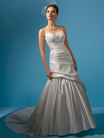 Graceful/Sweetheart Neckline/Spaghetti Strap/A-Line/Princess/Floor Length/Bridal Gown/AA152