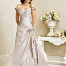 Free Shipping/A-line/Off shoulder/Sweetheart/Taffeta/Court train/Wedding Dress/BR003