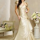 Graceful/Detachable/Bretelle/Taffeta/A-Line/Princess/Floor Length/Wedding Dress/BR004