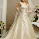 Elegant/Taffeta/with Appliques/Strapless/A-Line/Princess/Floor Length/Wedding Dress BR025