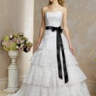 Succinct/Strapless/A-Line/Princess/Floor Length/Wedding Dress/BR028
