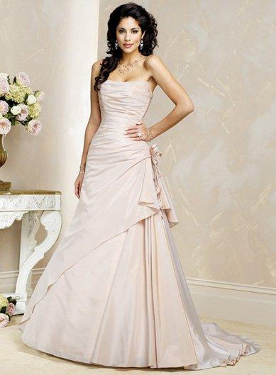 Exquisite/Strapless/Taffeta/A-Line/Princess/Floor Length/Wedding Dress/BR032