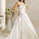 Elegant/Strapless/A-Line/Princess/Custom-made/Wedding Dress/BR037