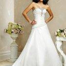 Elegant/Strapless/A-Line/Princess/Custom-made/Free color/wedding Dress/BR039