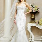 Decent/Strapless/A-Line/Princess/Floor Length/Custom made/Wedding Dress/BR041
