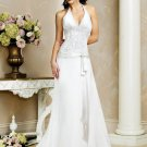 Elegant/Halter/Sweetheart Neckline/A-L ine/Princess/Custome made/wedding Dress/BR042