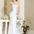 Succinct/Strapless/A-Line/Princess/Floor Length/Custom made/Free color/Bridal Wedding Dress/BR046