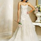 Recherche/Strapless/Satin/A-Line/Princess/Floor Length/Custom Made/Bridal Wedding Dress/BR047