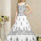 Recherche/Speghetti Strap/A-Line/Princess/Floor Length/Custom-made/Wedding Dress/BR060