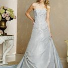 Recherche/Taffeta/Strapless/A-Line/princess/Floor Length/Custom-made/Wedding Dress/BR066