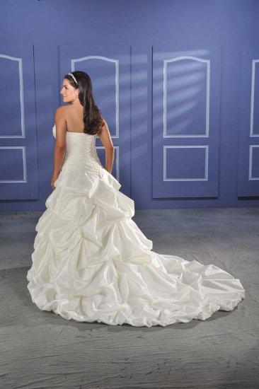 Recherche/Strapless/Taffeta/A-Line/Princess/Custom-made/plus size/Wedding Dress/PS011