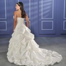 Recherche/Strapless/Taffeta/A-Line/Princess/Custom-made/plus size/Wedding Dress/PS011