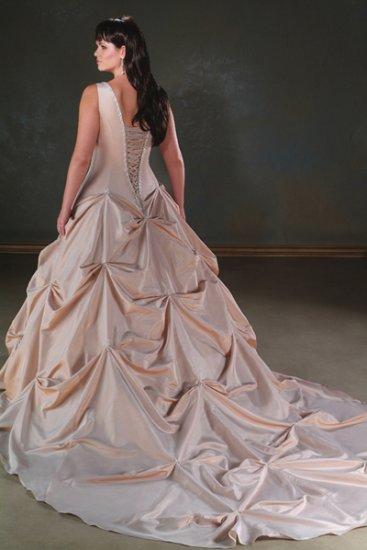 Elegant/Sweetheart Neckline/Taffeta/A-Line/Princess/Custom-made/plus size/Bridal Gown/PS018