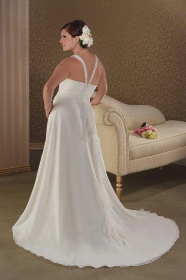 Terse/Sweetheart Neckline/Satin&Organza/A-Line/Princess/plus size/Wedding Dress/PS027