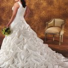 Acctractive/Taffeta/Sweetheart Neckline/A-Line/Princess/plus size/Wedding Dress/PS029