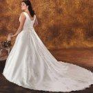 Tasteful/Sweetheart Neckline/Satin&Organza/A-Line/Princess/Bridal Wedding Dress/PS030
