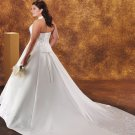 Tempting/Sweetheart Neckline/Halter/Satin/plus size/A-Line/Princess/Wedding Dress/PS031