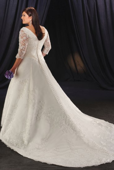 Exquisite/Long Lace Sleeves/Sweetheat Neckline/A-Line/Princess/Wedding Dress/PS033