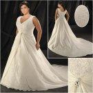 Elegant/Sweetheart  Neckline/Sleeveless/A-Line/Princess/Plus Size/Bridal Wedding Dress/PS045
