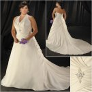 Elegant/Halter/Sweetheart  Neckline/A-Line/Princess/Plus Size/Bridal Wedding Dress/PS046