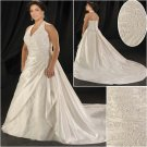 Elegant/Halter/Sweetheart  Neckline/A-Line/Princess/Plus Size/Bridal Wedding Dress/PS047