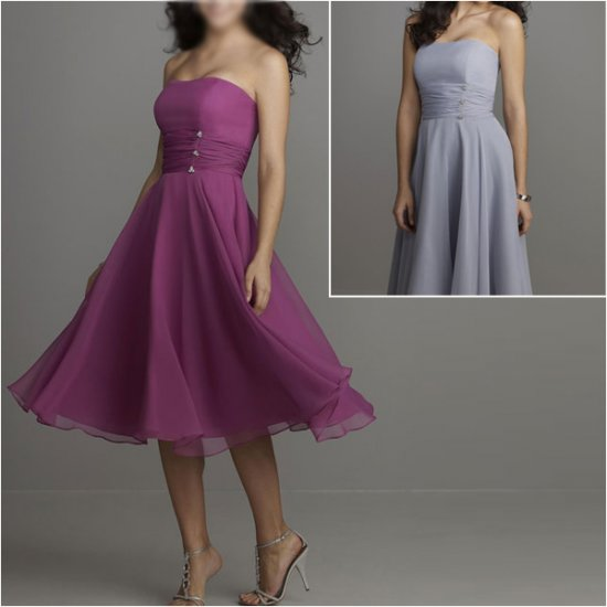 Free Shipping!!Elegant/Strapless/Knee-Length/evening dress/party dress/AD009