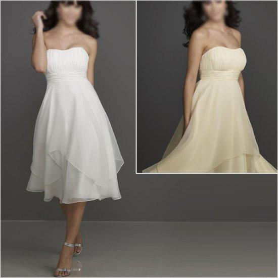 Custom Made/Elegant/Strapless/Knee-Length/Chiffon/evening dress/party dress/AD011
