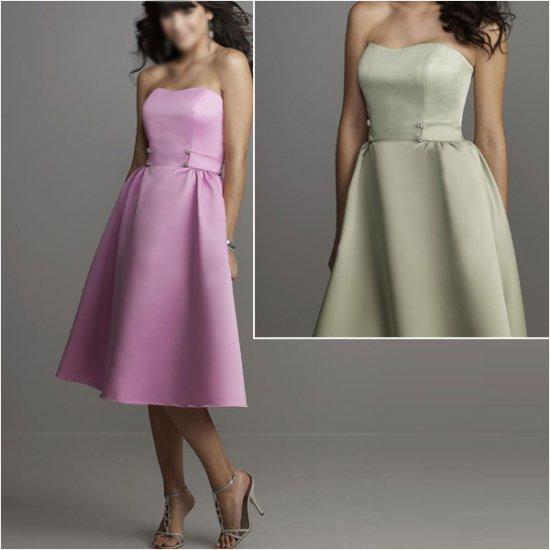 Custom Made/Elegant/Strapless/Knee-Length/Stretch Satin/evening dress/party dress/AD012