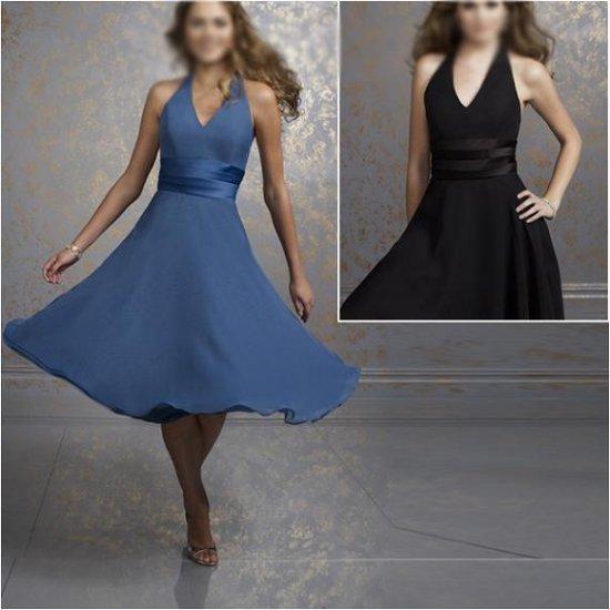 Custom Made/Elegant/Strapless/Knee-Length/Stretch Satin&Chiffon/evening dress/party dress/AD017