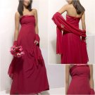 Elegant/Strapless/Floor-Length/Stretch Satin&Chiffon/evening dress/party dress/AD023