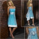 Elegant/Strapless/Knee-Length/Stretch Satin&Taffeta/with Ribbon/evening dress/party dress/AD024