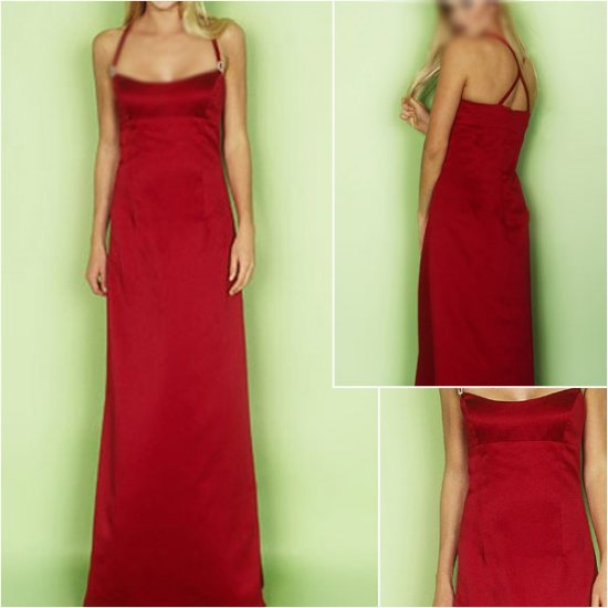 Acctractive/Halter/Floor-Length/Stretch Satin/evening dress/party dress/AD026