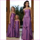 Free Shipping! Elegant/Strapless/Floor-Length/Taffeta/with Beading/evening dress/party dress/LN001