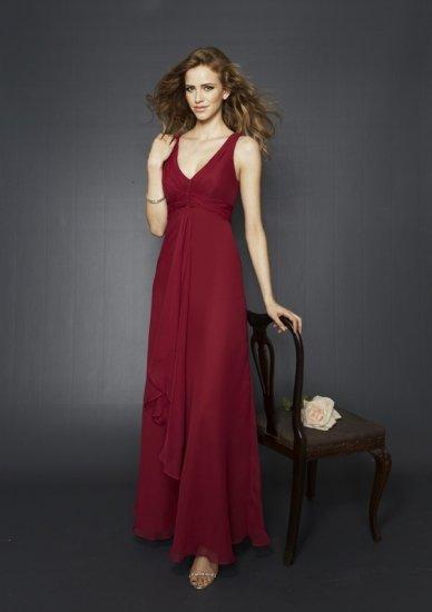 A-line/Sleeveless/V Neckline/Floor-Length/evening dress/bridesmaid dress BU020