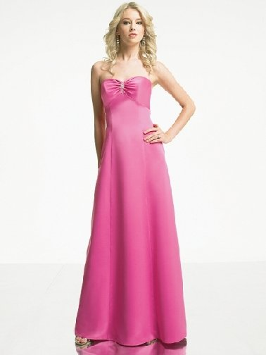 Free Shipping+10% discount/A-line/Strapless/Chiffon/Floor length/Bridesmaid gowns/LN21