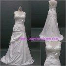 Free Shipping/A-line/Sleeveless/Taffeta/Floor length/Bridal Wedding Dress/CWD004