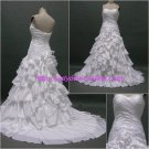 Free Shipping/A-line/Sweatheart/Chiffon/Court train/Bridal Wedding Dress/CWD005