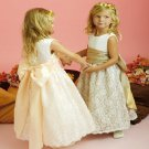Free Shipping/A-line/Sleeveless/Satin&Lace/Ankle-Length/Flower girls dresses/FL033
